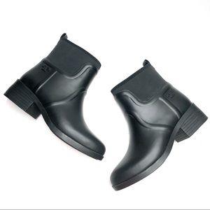 Tory Burch Black Short April Rain Boot